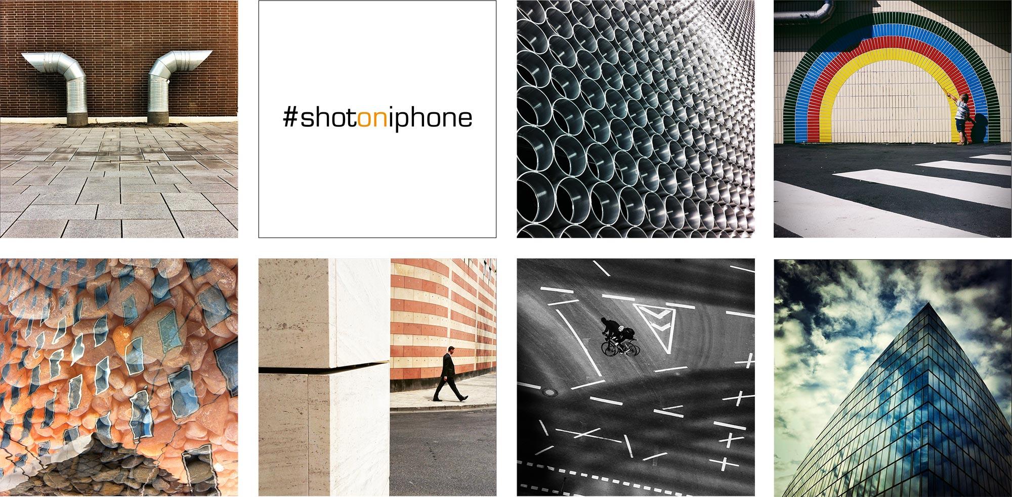 """Das Bild des Fotografen Fritz Philipp aus Frankfurt, bestehend aus sieben Aufnahmen aus der Serie """"shot on iphone"""""""